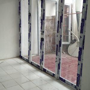 pintu lipat aluminium 4 daun